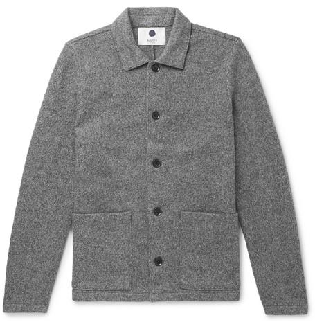 Mélange Boiled Wool Jacket by Nn07