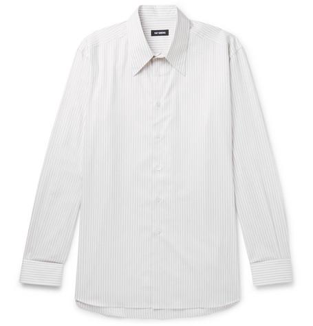 Oversized Striped Cotton Poplin Shirt by Raf Simons