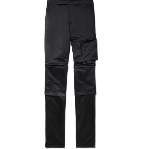 Space Slim-fit Satin Trousers