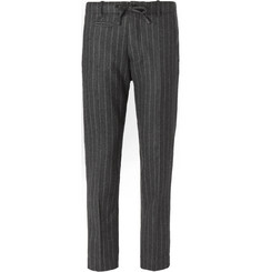 MAN 1924 Grey Slim-Fit Striped Wool and Cashmere-Blend Suit Trousers
