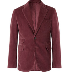 MAN 1924 Burgundy Cotton-Corduroy Suit Jacket