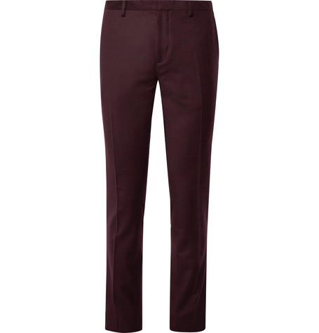 37de8a18802 Paul Smith - Burgundy Slim-Fit Wool and Cashmere-Blend Suit Trousers