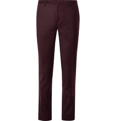 Paul Smith Burgundy Slim-Fit Wool and Cashmere-Blend Suit Trousers