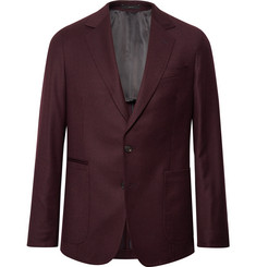 Paul Smith Burgundy Slim-Fit Wool and Cashmere-Blend Suit Jacket