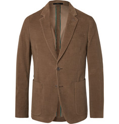 Paul Smith Olive Slim-Fit Cotton-Corduroy Suit Jacket