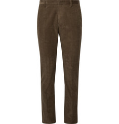 Paul Smith Olive Slim-Fit Cotton-Corduroy Suit Trousers