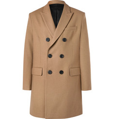 AMI Slim-Fit Double-Breasted Felted Wool-Blend Coat