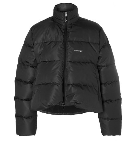 Oversized Quilted Ripstop Down Jacket