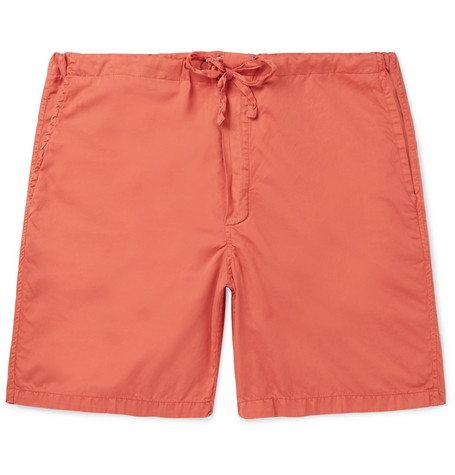 CLEVERLY LAUNDRY Cotton Shorts in Tomato Red