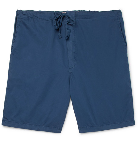 CLEVERLY LAUNDRY Cotton Shorts in Navy