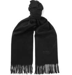 Hugo Boss Fringed Cashmere Scarf