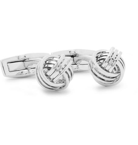 Hugo Boss – T-knot Silver-tone Cufflinks – Silver