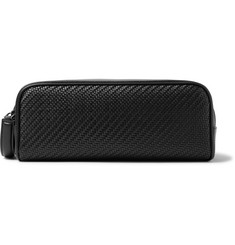 Ermenegildo Zegna Pelle Tessuta Leather and Nylon Wash Bag