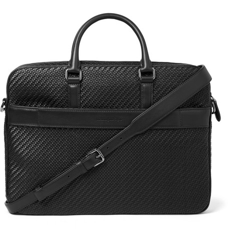 Pelle Tessuta Leather Briefcase