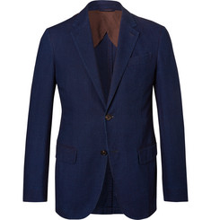 Ermenegildo Zegna Navy Slim-Fit Cotton Suit Jacket