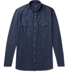Lardini Denim Western Shirt