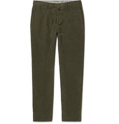 Lardini Slim-Fit Felted-Cotton Trousers