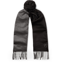 Canali - Two-Tone Silk and Cashmere-Blend Scarf