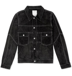 visvim Slim-Fit Suede Trucker Jacket