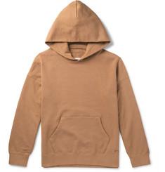 비즈빔 Visvim Jumbo Hand-Numbered Loopback Cotton-Jersey Hoodie,Camel