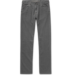 Canali Slim-Fit Washed Cotton-Blend Denim Jeans