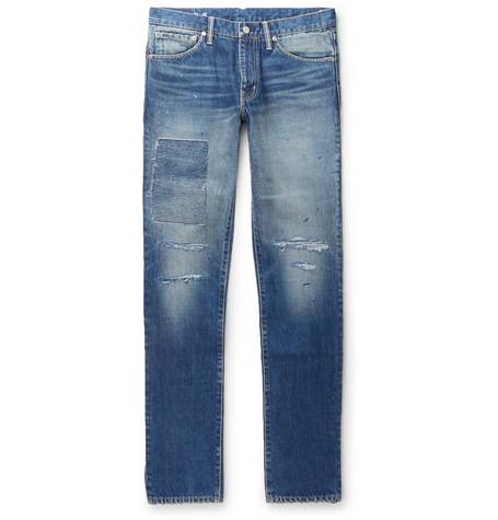 Social Sculpture 04 Slim Fit Distressed Denim Jeans by Visvim
