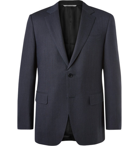 Blue Impeccabile Travel Slim Fit Wool Suit Jacket by Canali
