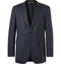 Canali Blue Impeccabile Travel Slim-Fit Wool Suit Jacket