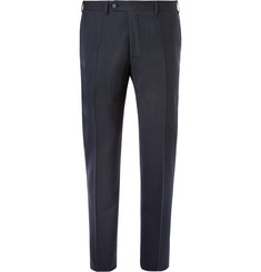 Canali Blue Impeccabile Travel Slim-Fit Wool Suit Trousers