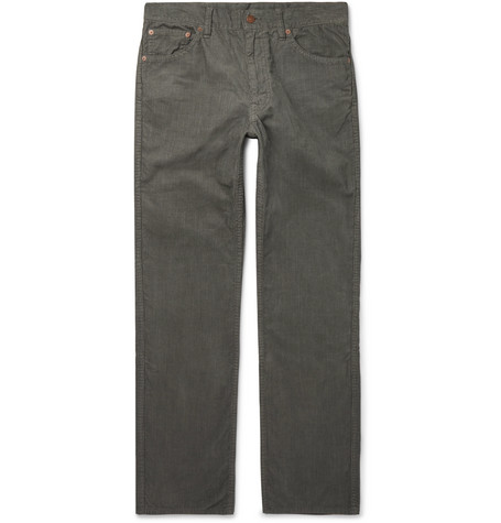 visvim Fluxus 02 Slim-Fit Cotton-Corduroy Trousers