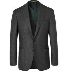 Canali Grey Kei Slim-Fit Wool-Flannel Suit Jacket