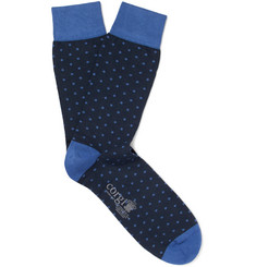 Kingsman - + Corgi Polka-Dot Cotton-Blend Socks