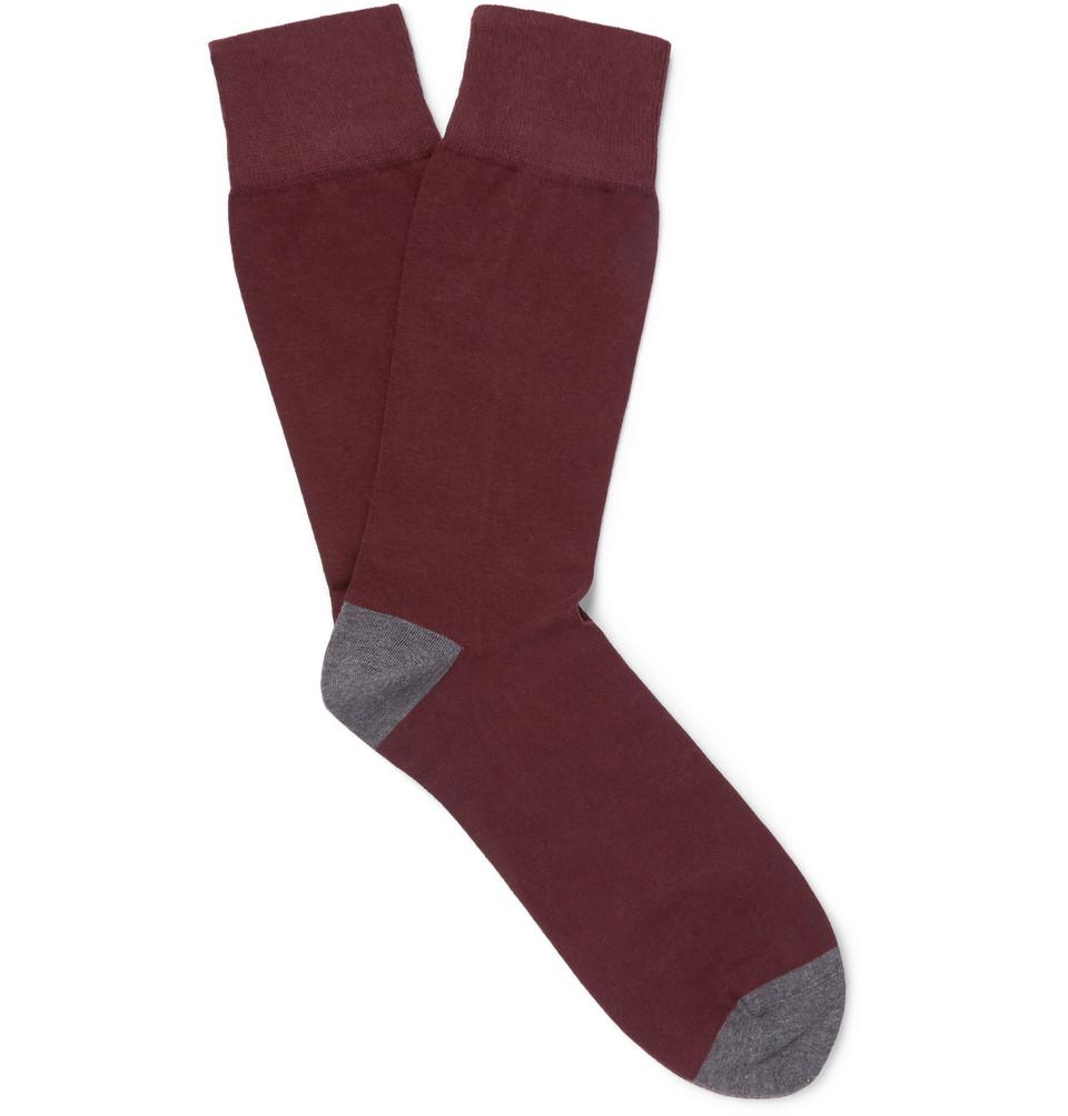 Billede af + Corgi Cotton-blend Socks - Burgundy