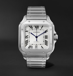Cartier - Santos 39.8mm Interchangeable Stainless Steel and Leather Watch