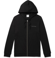 Calvin Klein Underwear Stretch Cotton and Modal-Blend Zip-Up Hoodie