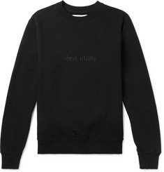 AFFIX Embroidered Fleece-Back Cotton-Jersey Sweatshirt