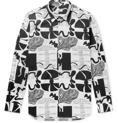 Très Bien Printed Cotton-Poplin Shirt