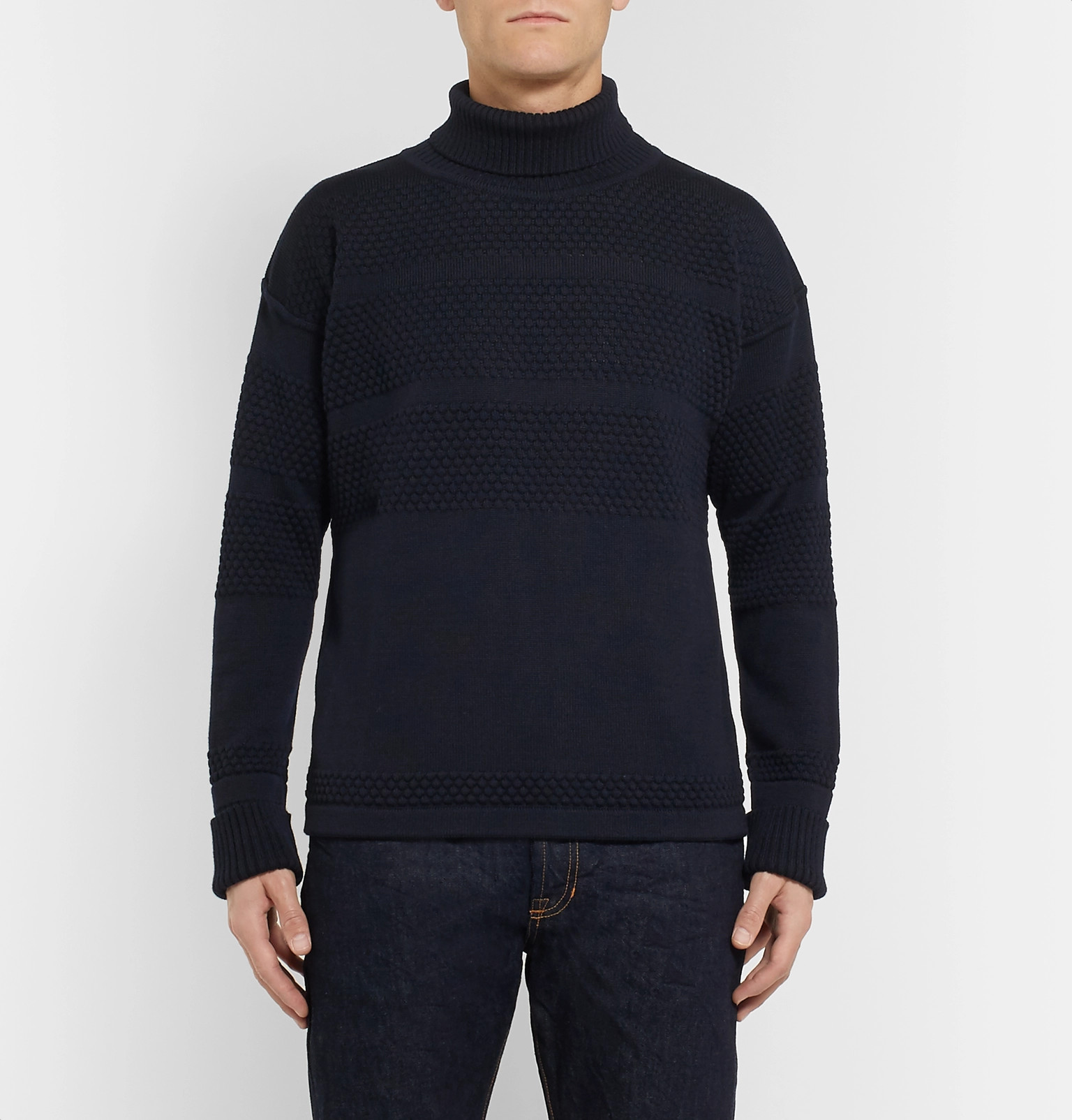 Mr Merino Sweater Rollneck Wool P Navy x0BqaSwP
