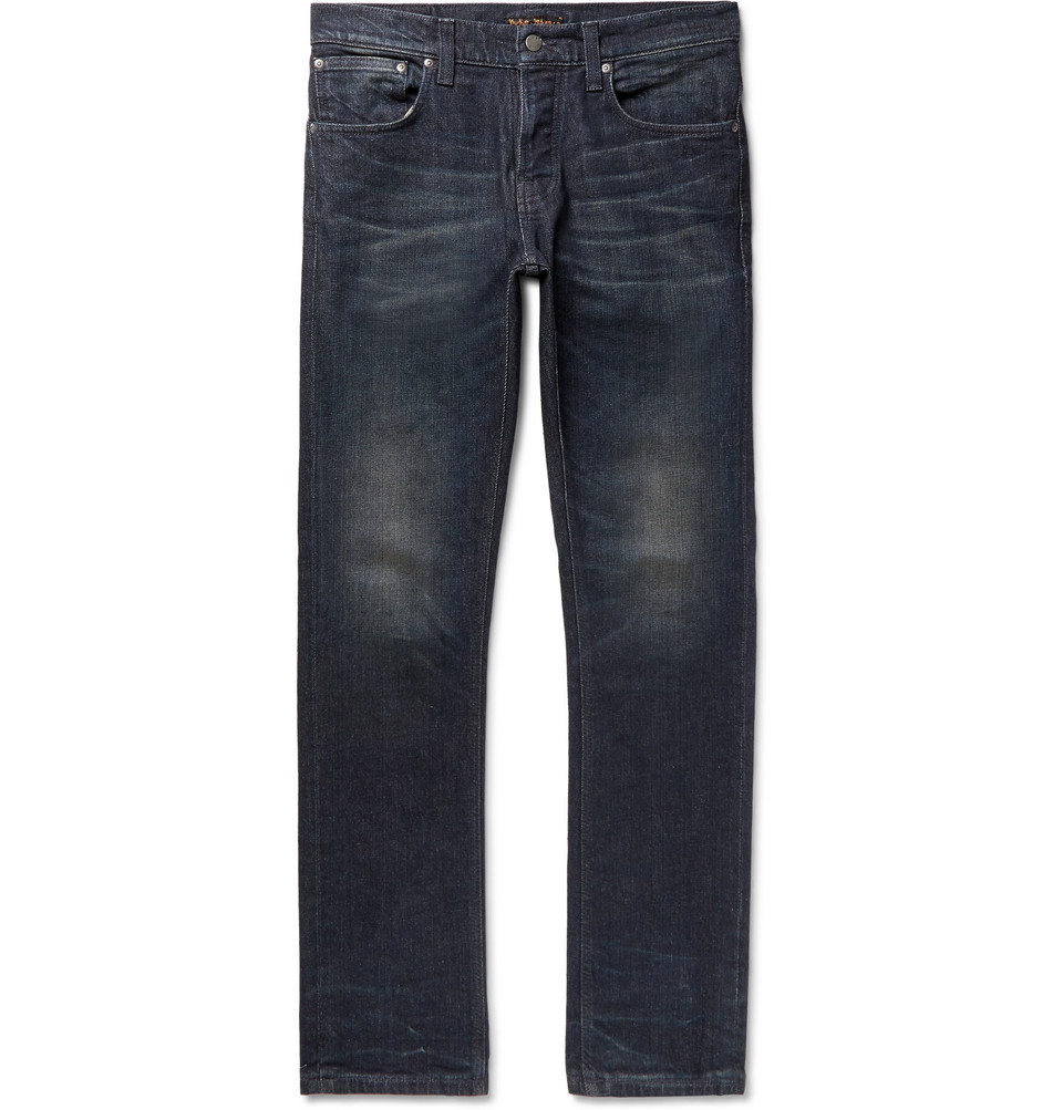 Bild på Grim Tim Organic Stretch-denim Jeans - Dark denim
