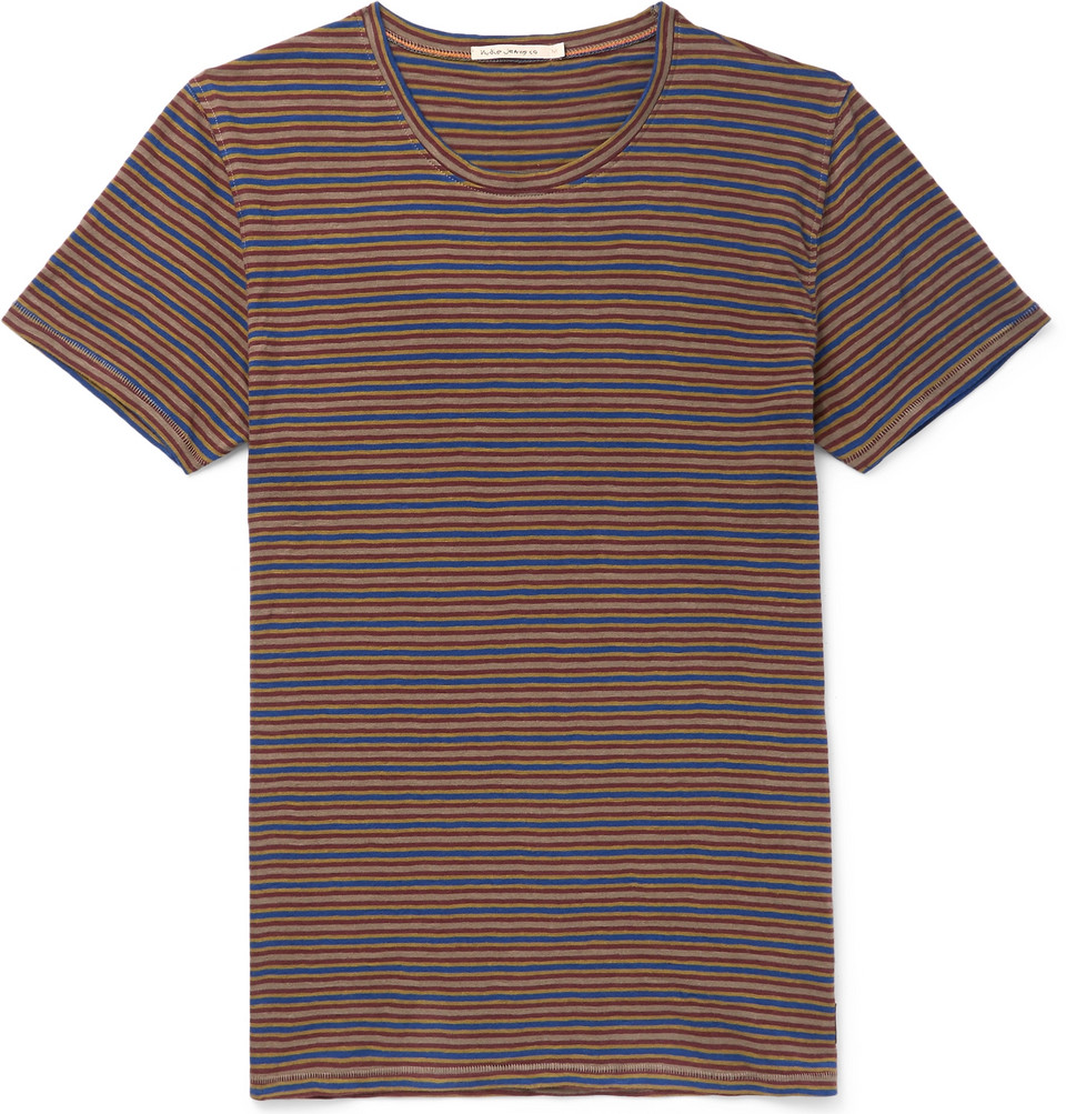 Bild på Anders Striped Organic Cotton-jersey T-shirt - Multi