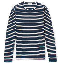 Enlist Oscar Striped Stretch-Cotton Jersey T-Shirt