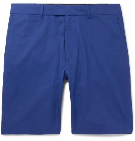 ENLIST Stretch-Cotton Chino Shorts - Blue
