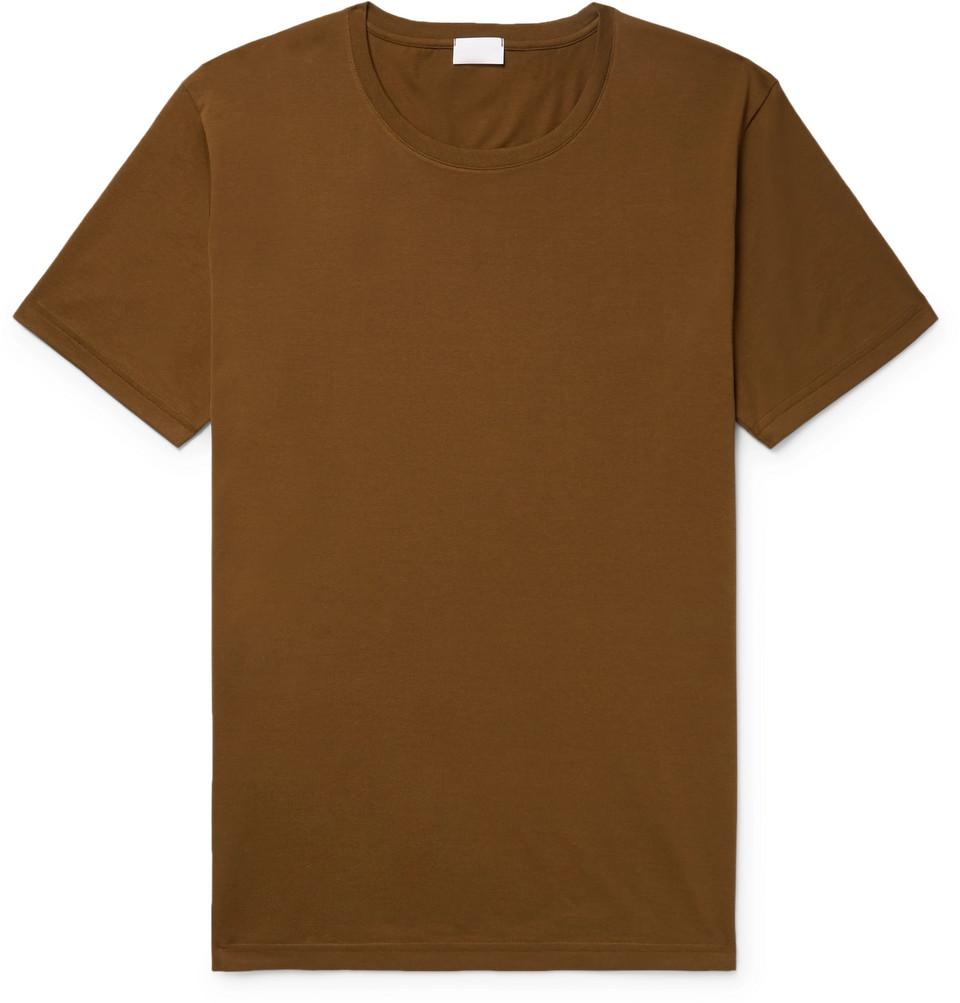 Pima Cotton-jersey T-shirt - Brown
