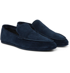 Loro Piana - Walk At Home Cashmere-Lined Suede Slippers