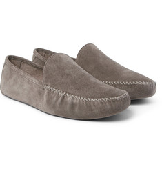 Loro Piana - Maurice Cashmere-Lined Suede Slippers