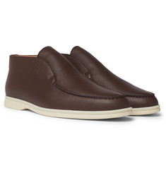 Loro Piana - Open Walk Full-Grain Leather Boots