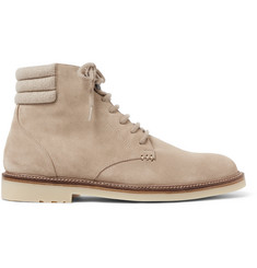 Loro Piana Icer Walk Cashmere-Trimmed Suede Boots