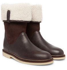 Loro Piana - Snow Walk Shearling-Lined Leather And Suede Boots