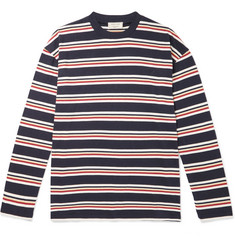 Maison Kitsuné - Oversized Striped Cotton-Jersey T-Shirt