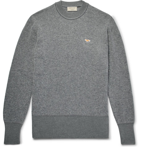Two Tone Wool Sweater by Maison Kitsuné